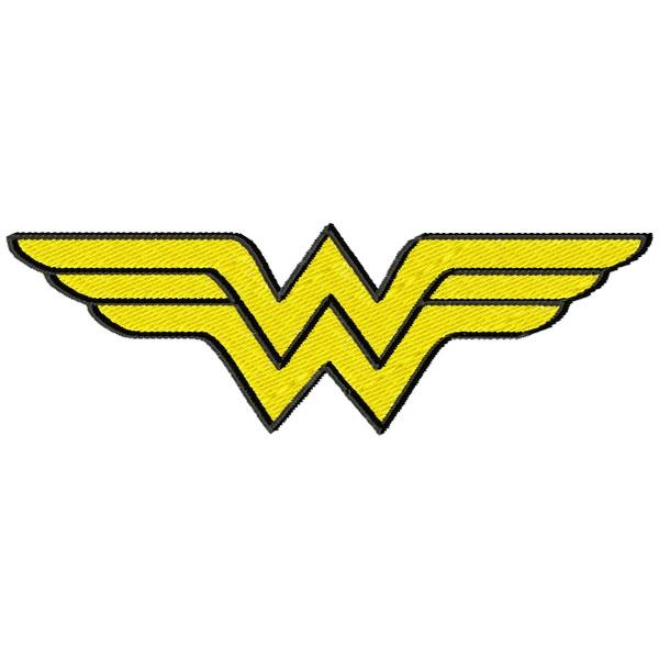 Matriz De Bordado Super Herois Emblema Mulher Maravilha Openlier
