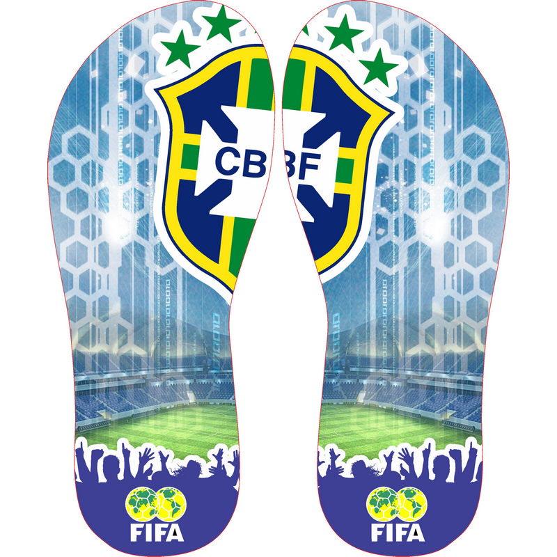 92b3d04a2 Arte para Chinelo - Brasil CBF - Openlier - Chave da Inspiração