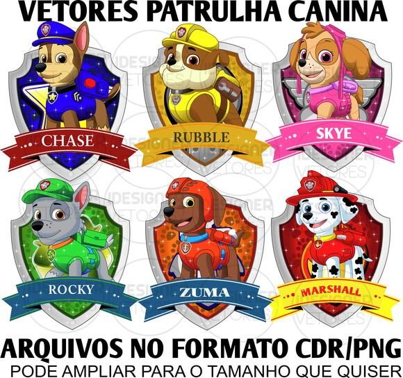 Vetores Patrulha Canina Arquivos No Formato Cdrpng